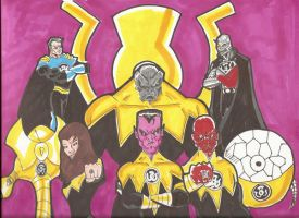 sinestro and the corp by RWhitney75