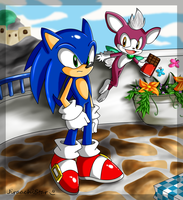 Whatcha Staring at, Sonic? 8D by JiraachiStar
