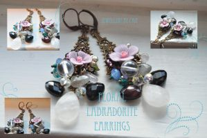Floral Weave Earrings by tanyquil