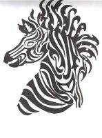 Tribal Zebra by lindeahl