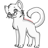Short-Haired Long-Tailed Cat Lineart MS Friendly by xXLovableshXx