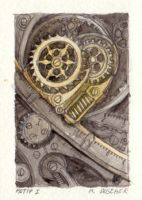 """Motif I"" Original ACEO by MikeDoscher"