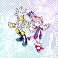 Blaze and Silver by sonic75619
