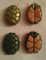 tmnt turtle shell charms by doggy90