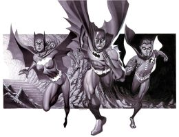 Bat Family- Marker Illo by ChristopherStevens