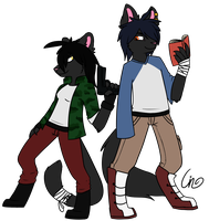 Shadow and Shira RQ by Cinderkittyz