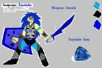 Steven Universe Gemsona: Tanzinite by Casirethedragon11