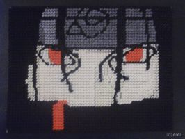 Plastic Canvas: Itachi by psto1464
