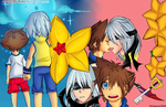 riku x sora: memories of the heart by Drawum