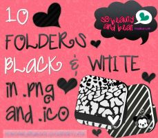 10 Folders Black/White by SoBeautyAndBeat