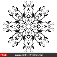 Ornate Decorative Element Vector Design by 123freevectors
