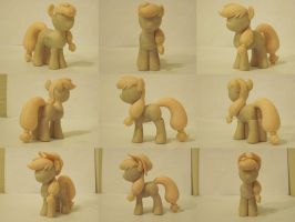 Applejack My Little Pony Custom Sculpture WIP by Blackout-Comix