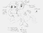 OC's: Maple Dip and Honey Drop - BASE SKETCH by Colonel-Majora-777
