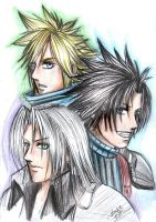 FFVII: SCZ crisis core by DarkLitria