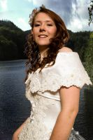 Bride at lake by photomystique