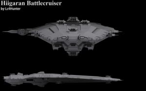Hiigaran Battlecruiser WIP by Lc4Hunter
