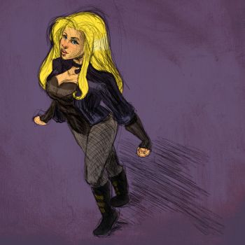 Sketch: Black Canary by avidcartoonfans