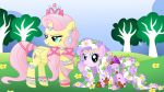 commision for davaba19 - Fluttershy and Diamond by Willemijn1991