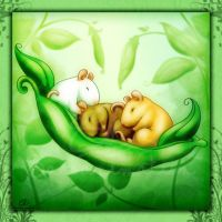 Pea Pod Rat Babies by bassanimation