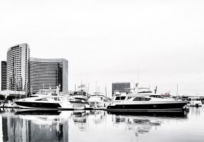 Docked at Hotel by DizzyCowPhotography