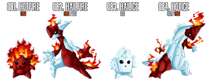 Fakemon: 81 - 84 by MTC-Studio