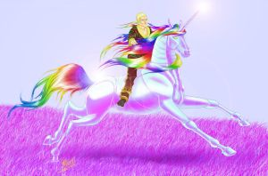Robot Unicorn with Andy Bell by elrothiel