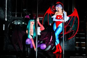 Morrigan and Lilith Cosplay by Yukilefay