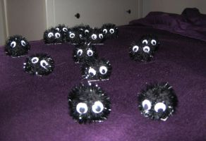 Soot Ball Pompoms by chibimonkies