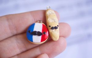 French Baguette and Cookie Charms by ChloeeeeLynnee97