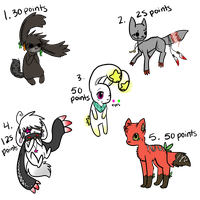 .:Point Adoptables:. OPEN by flowertigers