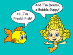 Freddi Fish meets Deema by dev-catscratch