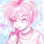 Shuichi with Pocky by Bishi-Breeder