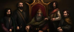 King and four Sons closeup by JordyLakiere