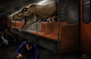 Trex in metro by ilker-yuksel