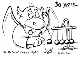 The Thirty Years Old Dragon by AlphonseLavallee