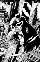 Batman Rainy Night in Gotham by deankotz