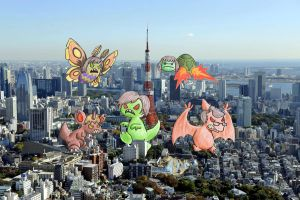 My siblings and me destroying Tokio by Friggo-Glicker