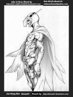 Gatchaman-Battle of the Planets grey wash inks by  by Bob-Misfit-Modelski