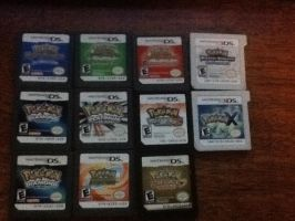 Pokemon ds games by RaindropLily
