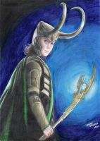 Loki drawing - 2013 by andrecamilo20