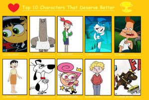 Top 10 Characters That Deserve Better Pt. 1 by katamariluv