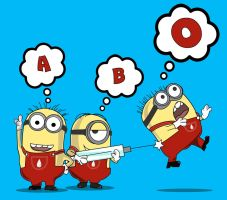 Blood Type Minions by howlingwolf142