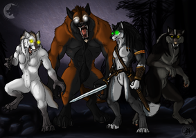 My Moon-reaver wolves by RecklessJack