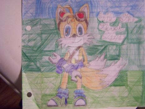 Another drawing of Tails :) :) by Erik-the-Okapi