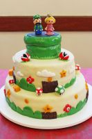 My Nintendo wedding cake by pamtamarindo