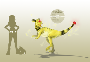Pokemon: Ampharos by BunnyFroofroo