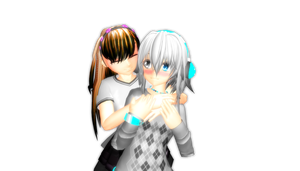 Lena and Ai ~Pose DL~ by Aria212