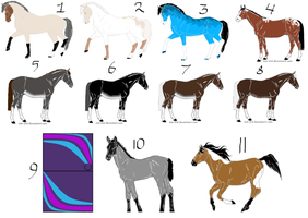 Left over horse adopts! pricing from 3-7 points! by Flyingfetlocks