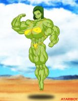 Hulked Up Anime Girls no4 by Atariboy2600