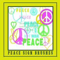 Peace Sign Brushes by JenniferSpriggs